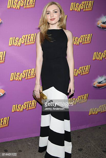 Peyton List attends 'Disaster' Broadway opening night at Nederlander Theatre on March 8 2016 in New York City