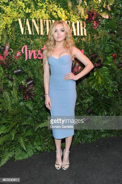 Peyton List attends Vanity Fair x Instagram Celebrate the New Class of Entertainers at Mel's Diner on Golden Globes Weekend at Mel's Diner on January...