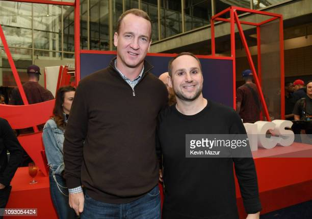 Peyton Manning and Fanatics Founder/Executive Chairman Michael Rubin attends Fanatics Super Bowl Party at College Football Hall of Fame on February 2...