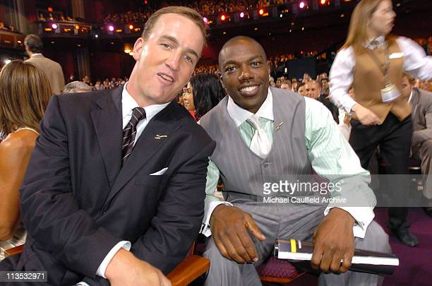 Peyton Manning and Terrell Owens during 2005 ESPY Awards Front Row and Backstage at Kodak Theater in Hollywood California United States