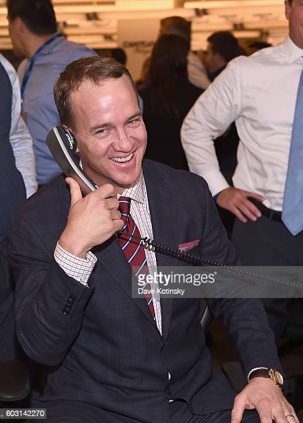 Peyton Manning attends the Annual Charity Day hosted by Cantor Fitzgerald BGC and GFI at Cantor Fitzgerald on September 12 2016 in New York City