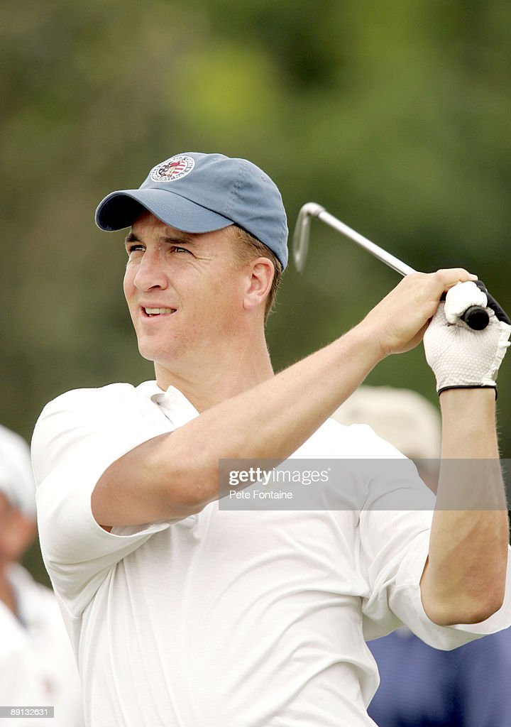 Peyton Manning competes during Pro-Am day at the 2005 Bay Hill Invitational at the Bay Hill Club and Lodge. March 15, 2005