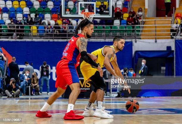 Peyton Siva #3 of Alba Berlin in action against CSKA Moscow during the Turkish Airlines EuroLeague Round 4 of 20202021 season at the Megasport Arena...