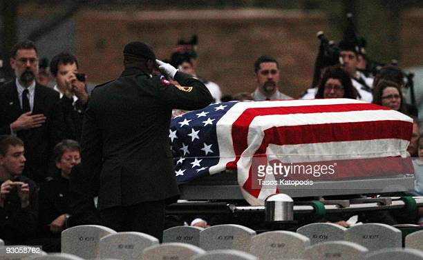 Pfc Michael S Pearson is buried at Abraham Lincoln National Cemetery November 14 2008 in Joliet Illinois Pearson was one of the US Army soldiers who...