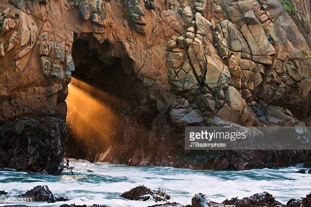 pfeiffer beach portal - big sur stock pictures, royalty-free photos & images
