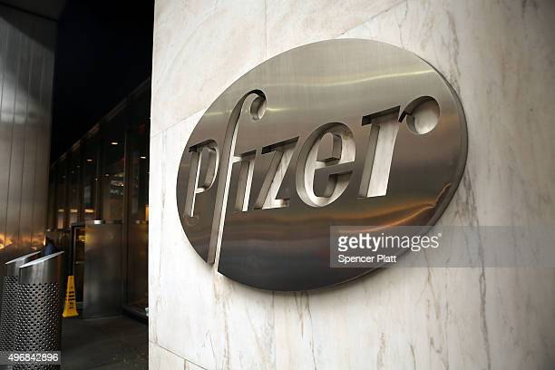 Pfizer's corporate headquarters stand in midtown Manhattan on a morning where volunteers with Doctors Without Borders dumped $17 million in fake...