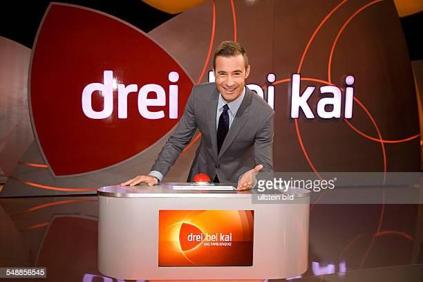 Pflaume Kai Presenter Germany of the quiz show 'Drei bei Kai'