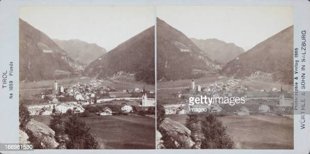 Tyrol General view 1905 Stereophotograph of Würthle Son Pfunds Tirol Gesamtansicht 1905 Stereophotographie von Würthle Sohn