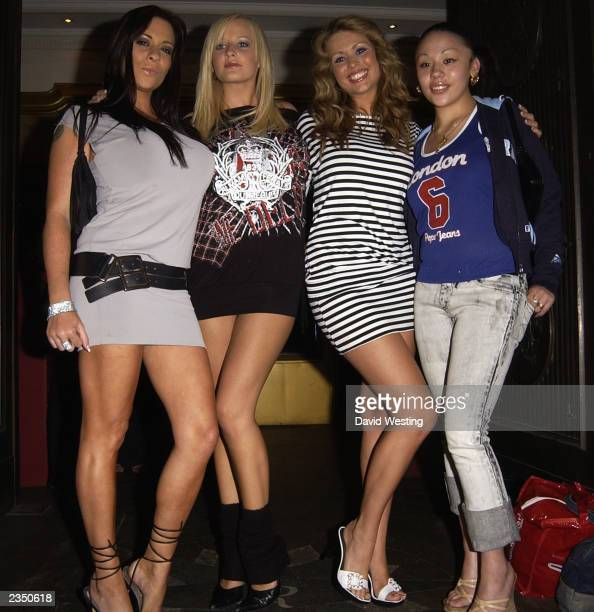 Pge 3 Model Linsey Dawn McKenzie Models Mutya from pop band The Sugababes attend The Mr Universe competition at The Sway Club July 30 2003 in London