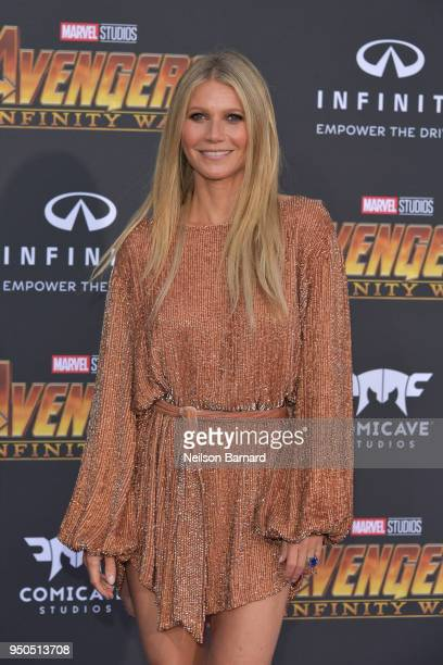PGwyneth Paltrow arrives at the Premiere Of Disney And Marvel's 'Avengers Infinity War' on April 23 2018 in Los Angeles California