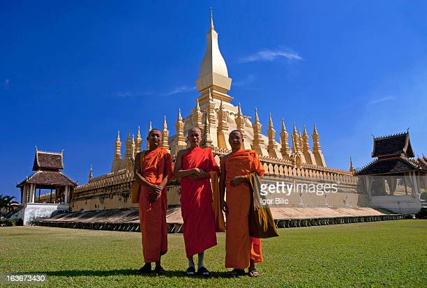 CONTENT] Pha That Luang is a gold covered large Buddhist stupa in the centre of Vientiane Laos Since its initial establishment suggested to be in the...