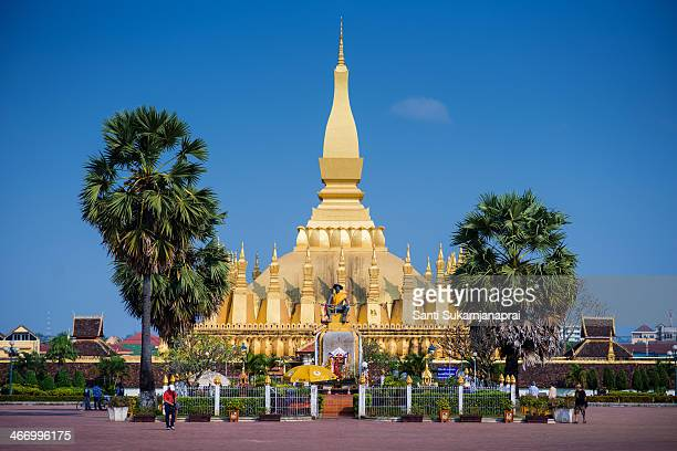 CONTENT] Pha That Luang is a goldcovered large Buddhist stupa in the centre of Vientiane Laos Since its initial establishment suggested to be in the...
