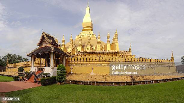 Pha That Luang is a gold-covered large Buddhist stupa in the centre of Vientiane, Laos. Since its initial establishment, suggested to be in the 3rd...
