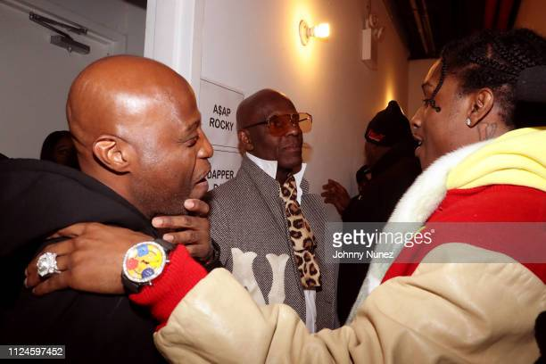 Phade Dapper Dan and A$AP Rocky backstage at Stoop Talks with A$AP Rocky Dapper Dan at Terminal 5 on February 12 2019 in New York City