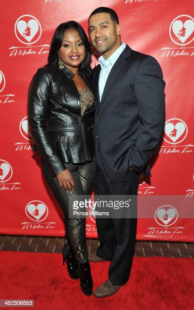 Phaedra Parks and Apollo Nida attend the opening night of A Mother's Love at Rialto Center for the Arts on November 22 2013 in Atlanta Georgia