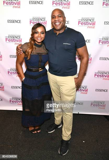 Phaedra Parks and Patrik Henry Bass pose backstage at the 2017 ESSENCE Festival presented by CocaCola at Ernest N Morial Convention Center on June 30...