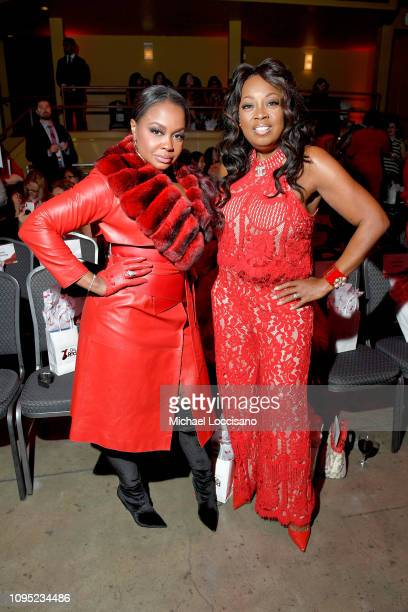 Phaedra Parks and Star Jones attend The American Heart Association's Go Red For Women Red Dress Collection 2019 Presented By Macy's at Hammerstein...