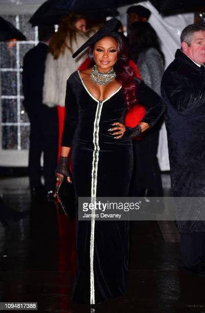 Phaedra Parks arrives to the amfAR Gala New York 2019 at Cipriani Wall Street on February 6 2019 in New York City