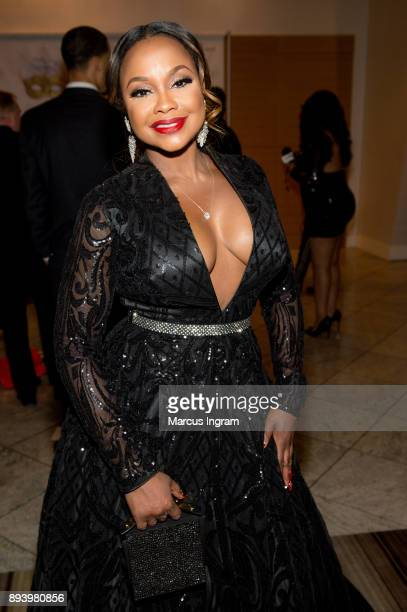 Phaedra Parks attends the 34th Annual UNCF Atlanta Mayor's Masked Ball at Atlanta Marriott Marquis on December 16 2017 in Atlanta Georgia