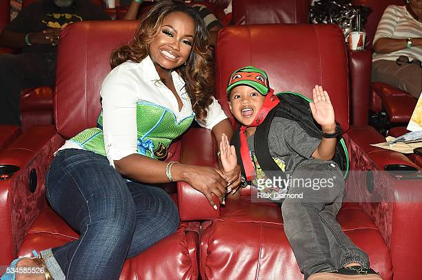 Phaedra Parks Ayden Nida attend the Atlanta Screening of the Paramount Pictures title Teenage Mutant Ninja Turtles Out of the Shadows on May 26 2016...