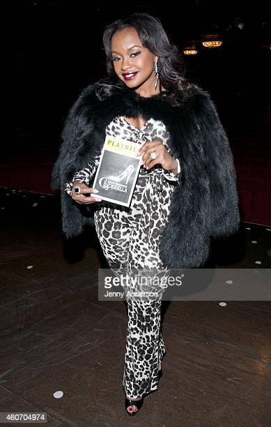 Phaedra Parks backstage at Roger Hammerstein's Cinderella at the Broadway Theatre on December 19 2014 in New York City