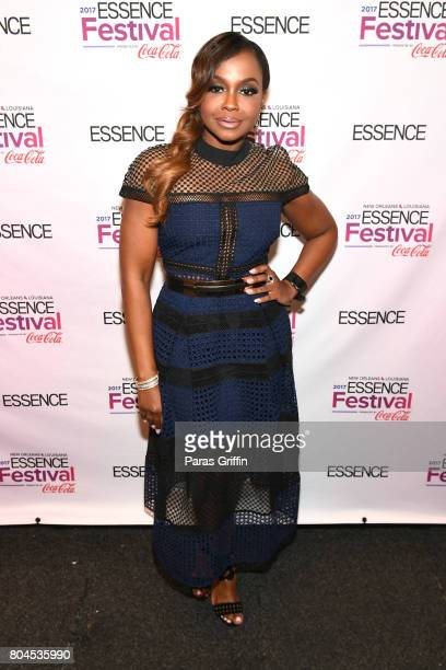 Phaedra Parks poses backstage at the 2017 ESSENCE Festival presented by CocaCola at Ernest N Morial Convention Center on June 30 2017 in New Orleans...
