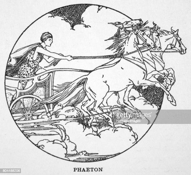 Phaeton' 1925 Phaeton son of Helios driving his father's chariot From The Book of Myths by Amy Cruse 1925