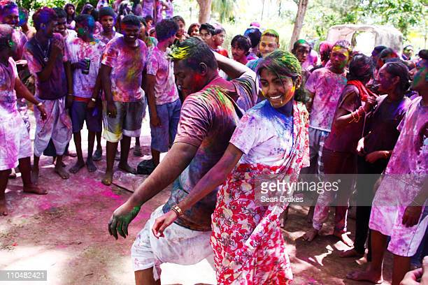 Phagwa celebrations at Tunapuna Hindu School on March 19 2011 in Tunapuna Trinidad