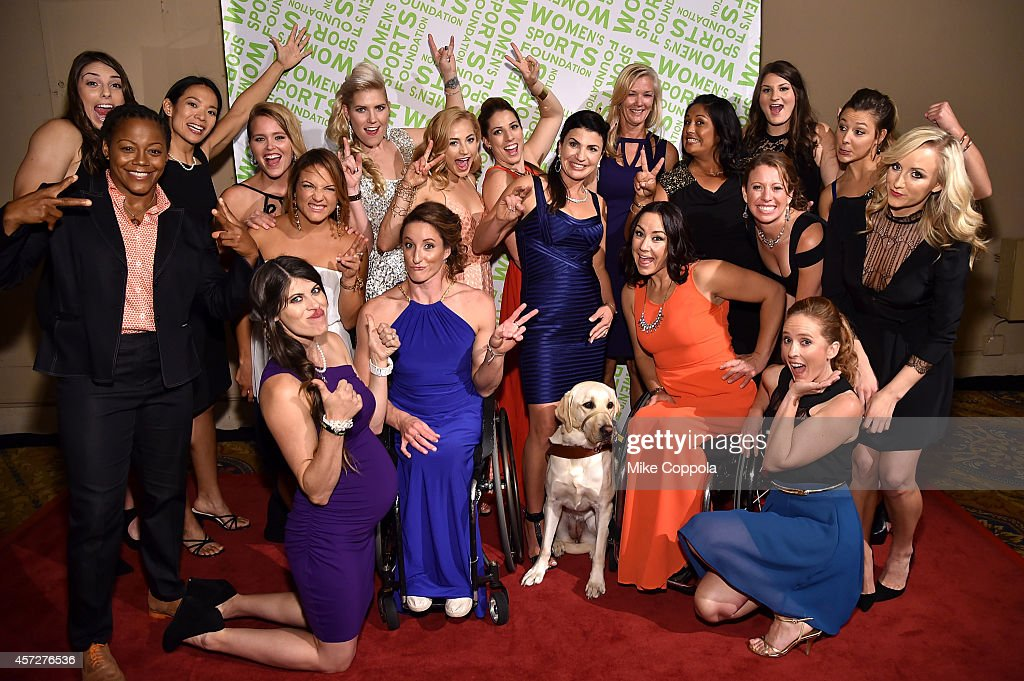 Phaidra Knight, Hilary Knight, Julie Chu, Grete Eliassen, Elena Hight, Lyn-z Adams Hawkins Pastrana, Jolene Van Vugt, Tatyana McFadden, Sasha DiGiulian, Erin Hamlin, Danelle Umstead, Camille Duvall - Hero, Brenda Villa, Alana Nichols, Mary Whipple, Devin Logan, Emily Cook, Kim Jacob, Nastia Liukin attend the Women's Sports Foundation's 35th Annual Salute to Women In Sports awards, a celebration and a fundraiser to ensure more girls and women have access to sports at Cipriani Wall Street on October 15, 2014 in New York City.