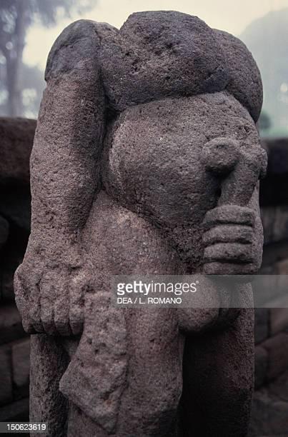 Phallic sculpture in the Candi Sukuh Buddhist Temple Java Indonesia 15th century