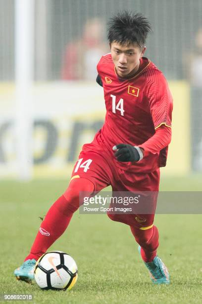Phan Van Duc of Vietnam in action during the AFC U23 Championship China 2018 Quarterfinals match between Iraq and Vietnam at Changshu Stadium on 20...