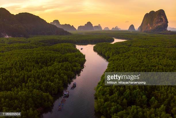 phang nga bay in sunrise unseen thailand - southeast asia stock pictures, royalty-free photos & images