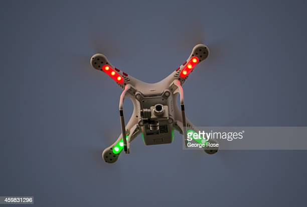 Phantom drone buzzes above Gaviota State Beach at sunset on November 26 in Santa Barbara California Because of its close proximity to Southern...