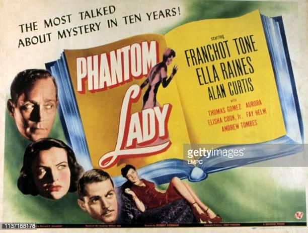 Phantom Lady lobbycard Franchot Tone Ella Raines Alan Curtis 1944