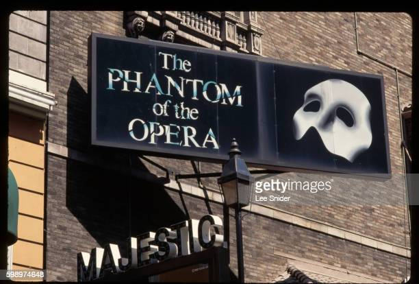 phantom of the opera billboard - the phantom of the opera stock pictures, royalty-free photos & images