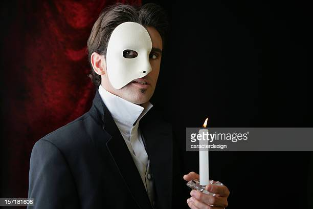 phantom of the opera - in flames i the mask stock pictures, royalty-free photos & images