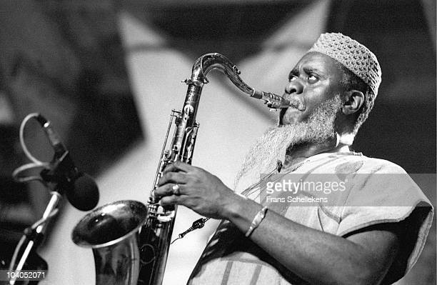 Pharaoh Sanders performs on stage at The North Sea Jazz Festival on July 13 1985 in The Hague Netherlands