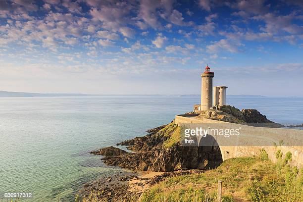 phare du petit minou (minou lighthouse) - finistere/ brittany/ france - finistere stock photos and pictures