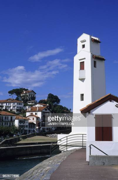 phare SaintJeandeLuz et Ciboure Pays Basque departement PyreneesAtlantique region Aquitaine France lighthouse SaintJeandeLuz and Ciboure Pays Basque...