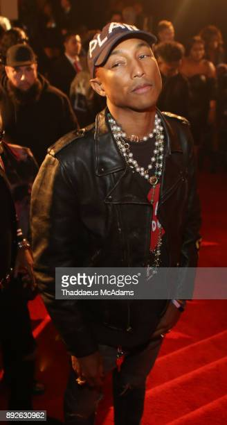 Pharell attends The Set Gala at The MacArthur on December 13 2017 in Los Angeles California
