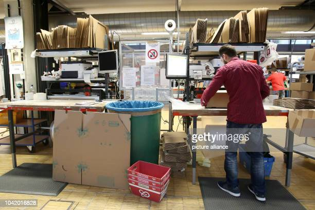 Pharmaceutical products are prepared for delivery in the logistics centre of the mailorder pharmarcy aporot in Hamburg Germany 21 April 2017 Photo...