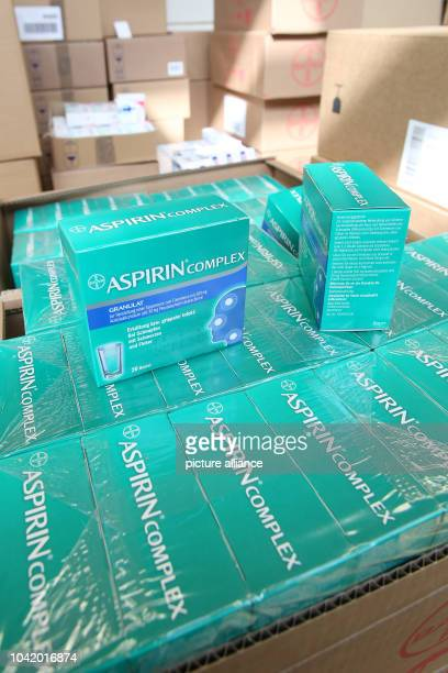 Pharmaceutical products including Aspirin Complex seen in the logistics centre of the mailorder pharmarcy aporot in Hamburg Germany 21 April 2017...