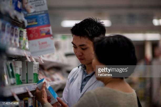 Pharmacist helping a senior