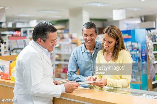 Pharmacist selling prescribed medications