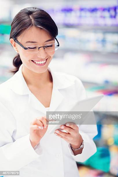 Pharmacist with a tablet computer