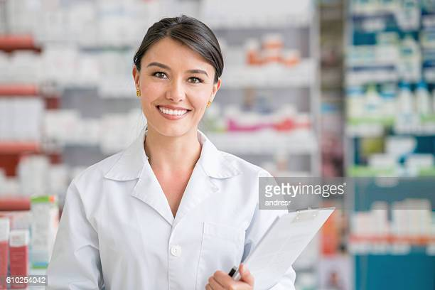 Pharmacist working at a drugstore
