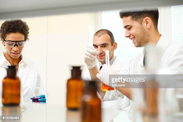 Pharmacists in a laboratory
