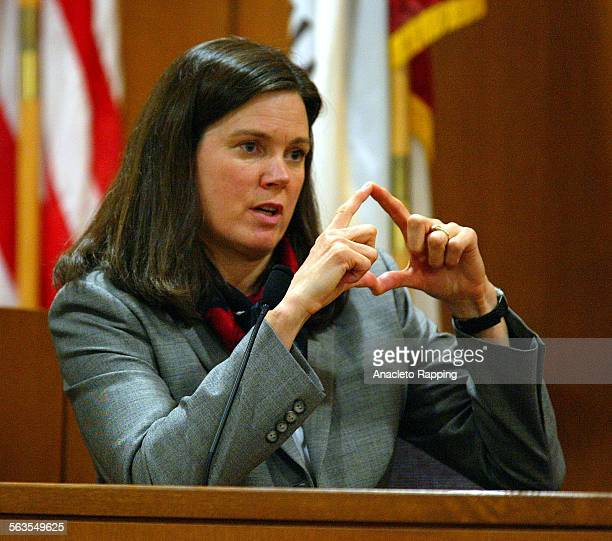 Pharmacologist Jo Dyer testifies for the prosecution about the date rape drug gamma hydroxybutyrate or GHB during trial against Andrew Luster in...