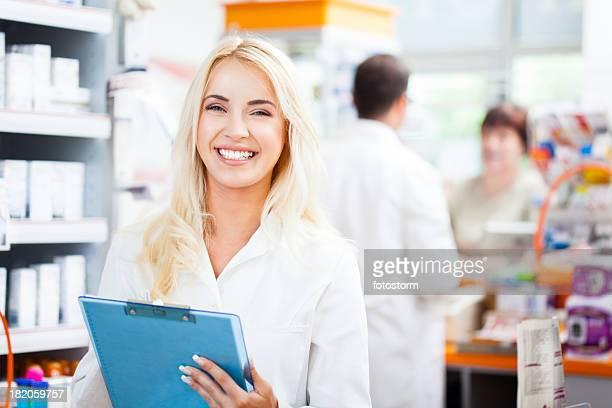 Pharmactist working in pharmacy