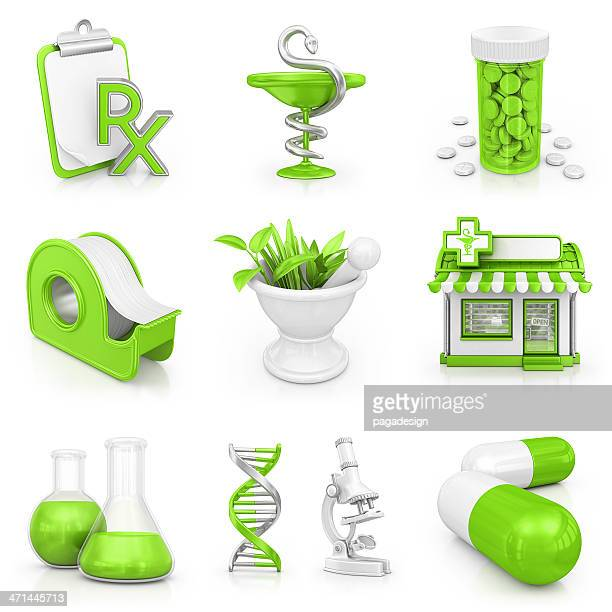 pharmacy icons - computer icon stock photos and pictures